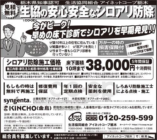 下野新聞 シロアリ駆除・予防|2018年5月