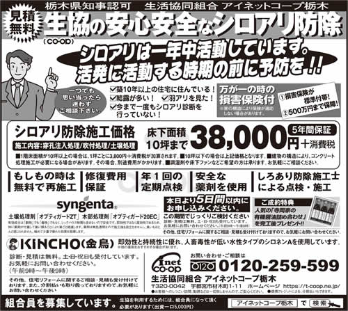 下野新聞 シロアリ駆除・予防|2019年2月