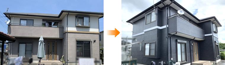 外壁塗装 施工事例(宇都宮市)