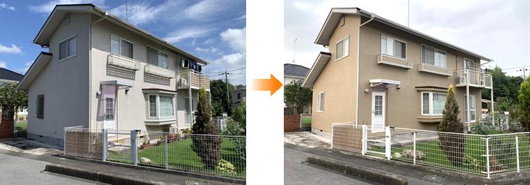 外壁塗装 施工事例(さくら市)