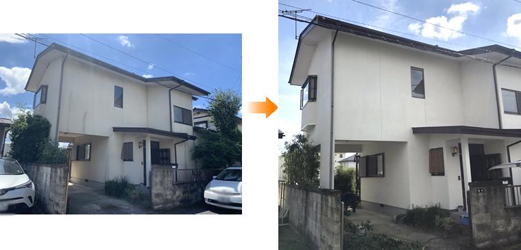 外壁塗装 施工事例(大田原市)