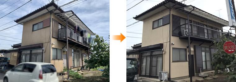 外壁塗装 施工事例(下野市)