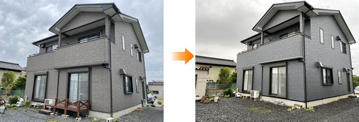 外壁塗装 施工事例(佐野市)